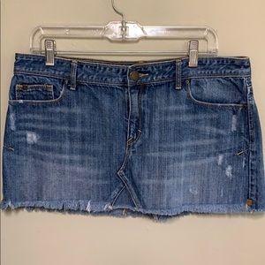 Abercrombie & Fitch raw hem distressed mini skirt